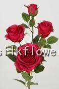 78cm 振輝玫瑰 X4 玫紅