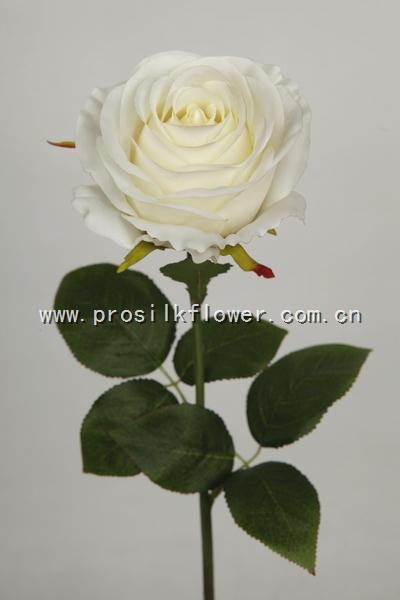 64cm 振輝大玫瑰 X4 奶白色